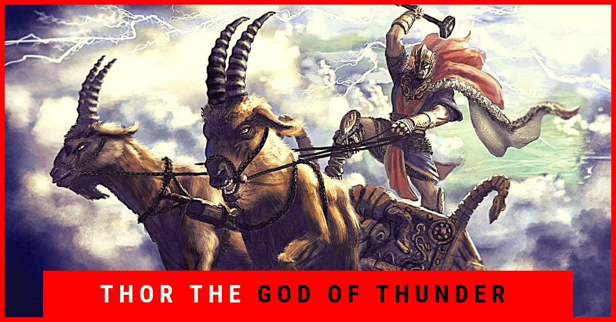 Thor The God Of Thunder With A Hammer Called Mjolnir