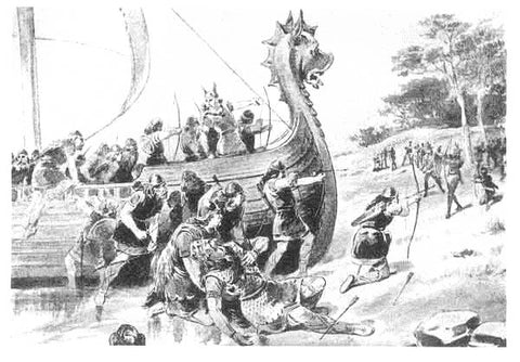 Representation of the death of Thorvald Eriksson