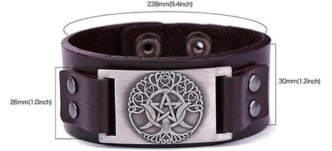 Viking-leather-cuff-size