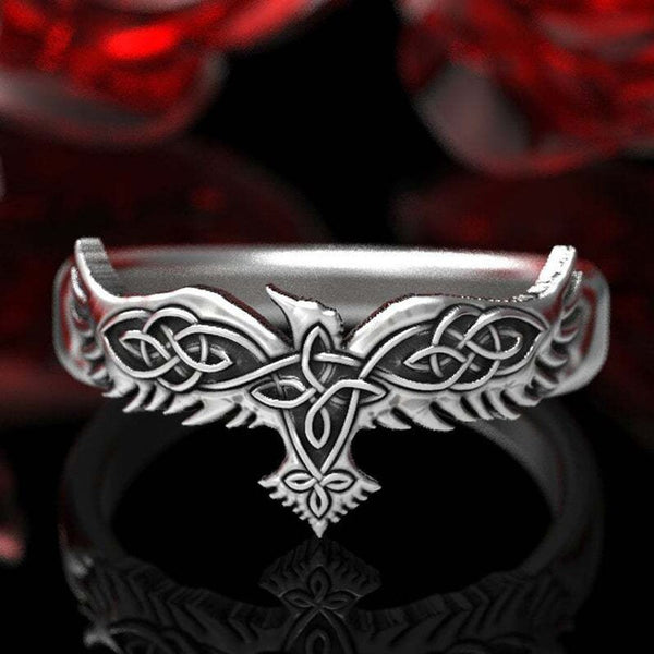Viking Ravens Celtic Ring