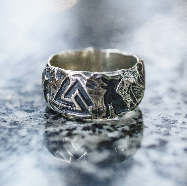 Valknut (Viking Signet Ring)