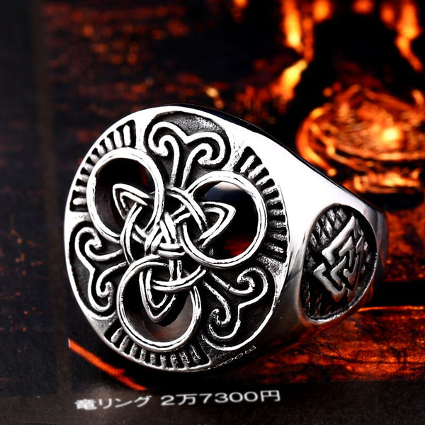 Runic Trinity (Viking Ring)