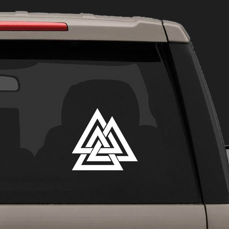 white valknut sticker
