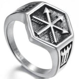 Arrow Ring - 11 / Antique Silver / WorldWide - viking ring