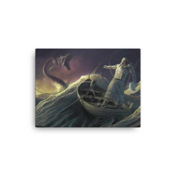Thor Vs Jormungandr (Viking Canvas)