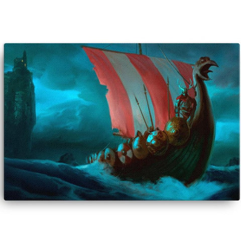 Viking Ship Canvas