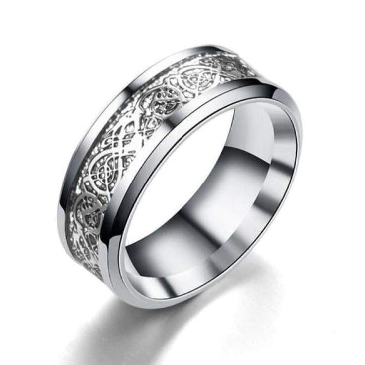 Dragon Heart Ring - 11 (64 5mm) / Golden Dragon - viking ring