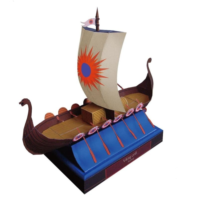 DRAKKAR VIKING SHIP WOODEN MODEL - DRAKKAR VIKING SHIP WOODEN MODEL