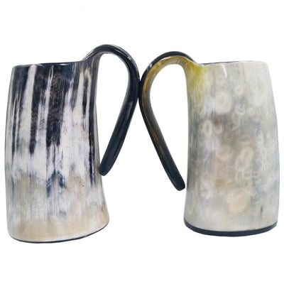DRINKING HORN MUG POLISHED - viking drinking horn