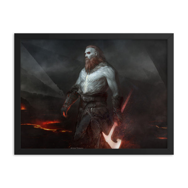 Norse God Tyr (Viking poster)