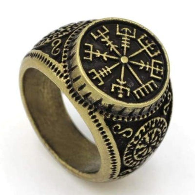 Helm of Awe ring - 10.5 / Antique Bronze Plated - magical ring