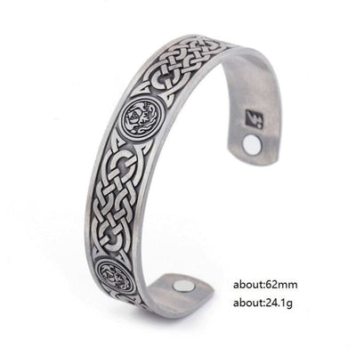 MAGNETIC VIKING ARM RING - Antiuqe silver / Worldwide - 200000146