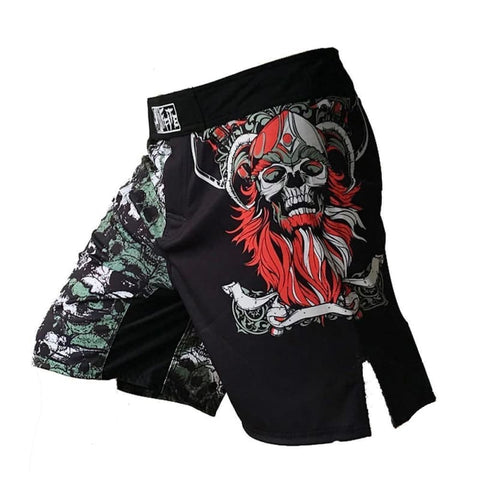 MMA Shorts Skull - viking shorts