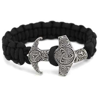 NORDIC GODS BRACELET - 13.Algiz: Phoneme: Z. Meaning: protection from enemies defense of that which one loves. - viking bracelet