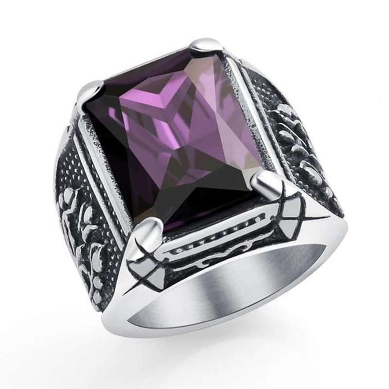 purple titanium viking ring