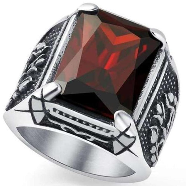red titanium viking ring
