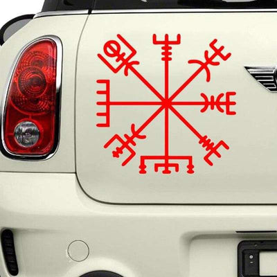 red viking rune stickers
