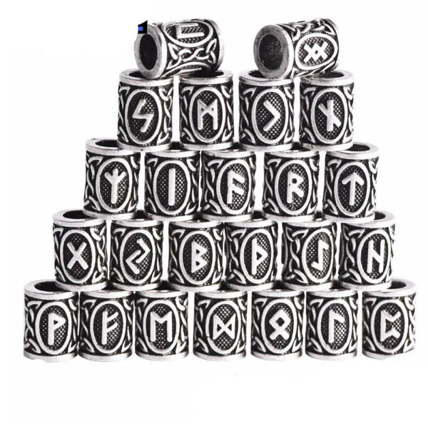 Runic Pearl - Beard Hair and Necklace - Viking beard rings hair braids