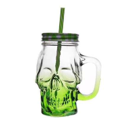 SKULL GLASS 3.0 - Green / 450ML(Fulled) - skull glass