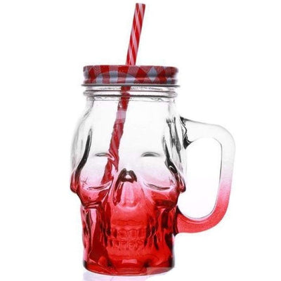 SKULL GLASS 3.0 - Red / 450ML(Fulled) - skull glass