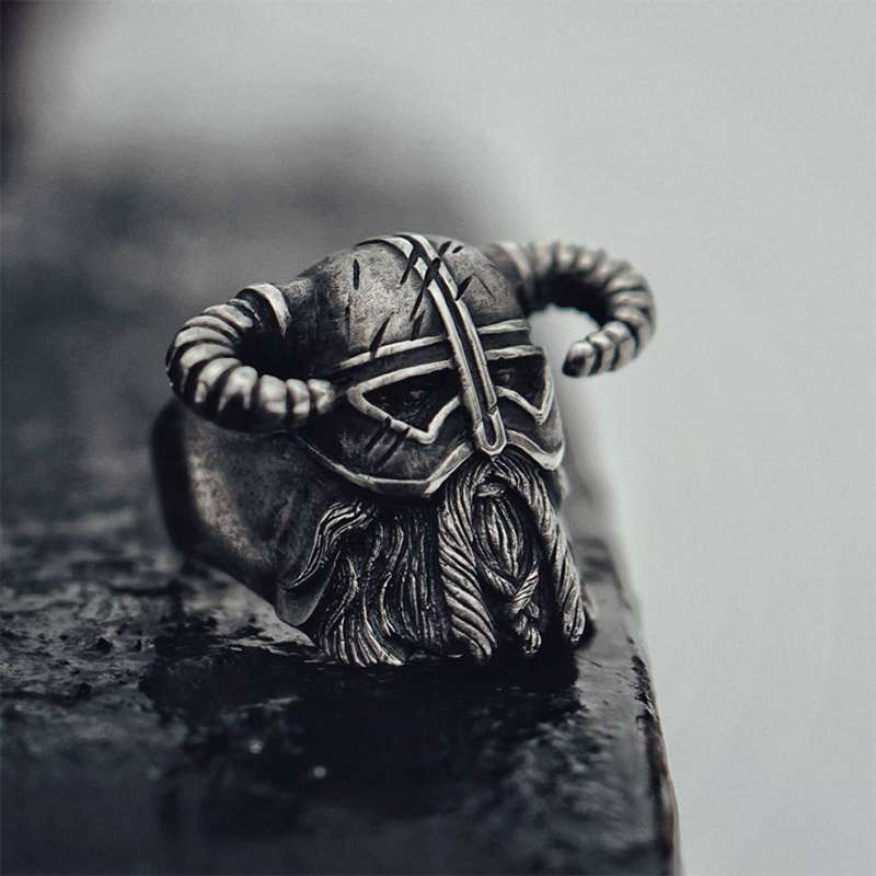 unisex viking warrior ring