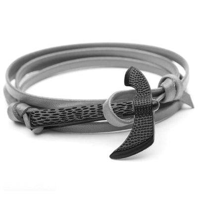 VIKING AXE BRACELET - Gray - viking bracelet