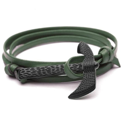 VIKING AXE BRACELET - Green - viking bracelet