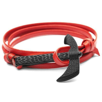 VIKING AXE BRACELET - Red - viking bracelet