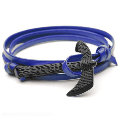 VIKING AXE BRACELET - Royal Blue - viking bracelet