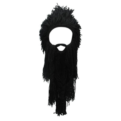 VIKING BEANIES - WIG WITH REMOVABLE FALSE BEARD - Black - 200000447