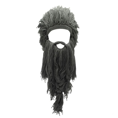 VIKING BEANIES - WIG WITH REMOVABLE FALSE BEARD - Gray - 200000447