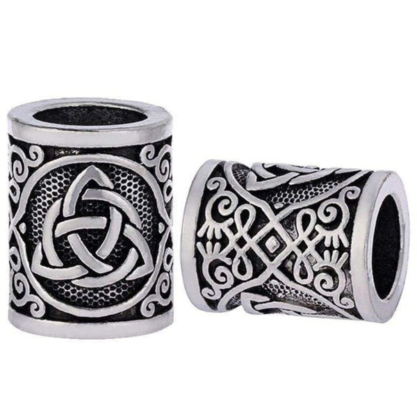 Viking Beard Beads Celtic knot - Viking beard rings hair braids