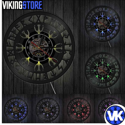 VIKING CLOCK - AEGISHJALMR - With Led - 152805