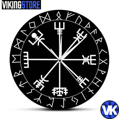 VIKING CLOCK - VEGVISIR - Black - 152805