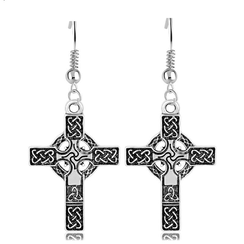 VIKING EARRINGS - CELTIC CROSS - celtic cross