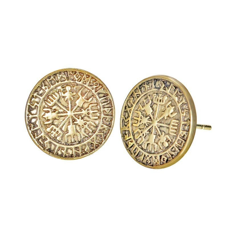 VIKING EARRINGS - ICELAND - Antique Gold Plated - 200000171