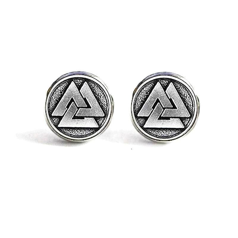 VIKING EARRINGS - VALKNUT - Valknut / Silver - viking earrings