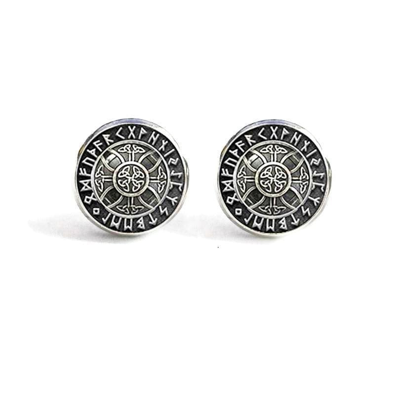 VIKING EARRINGS - VEGVISIR - Vegvisir / Silver - viking earrings
