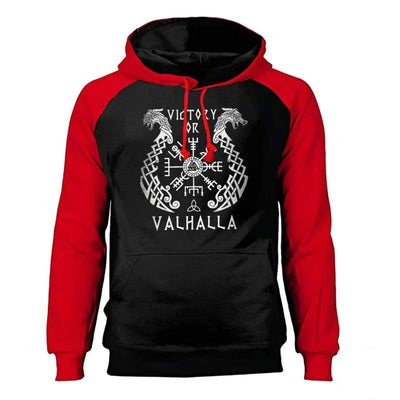 VIKING HOODIE - FRANANGS FALLS FOR MEN - RED / S - 200000344