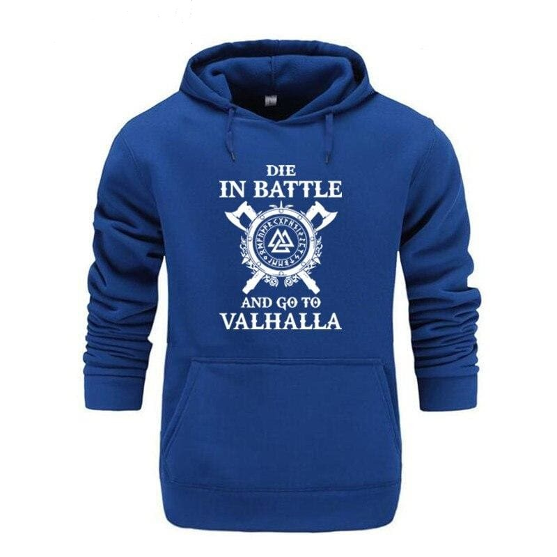 VIKING HOODIE - HIGH QUALITY FREYA - BLUE / M - 200000344