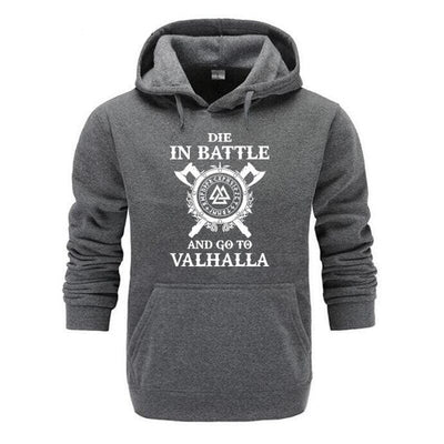 VIKING HOODIE - HIGH QUALITY FREYA - DARK GREY / M - 200000344