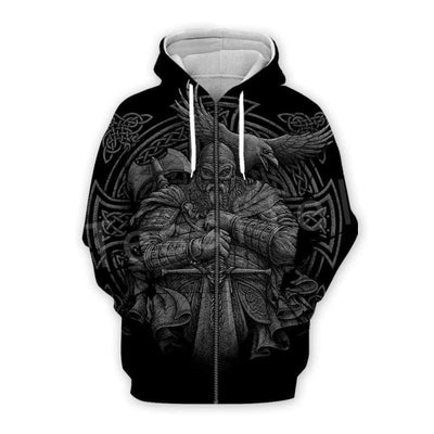 VIKING HOODIE - NEW FASHION ALLFATHER - ZIPPER / XXXS - 200000344