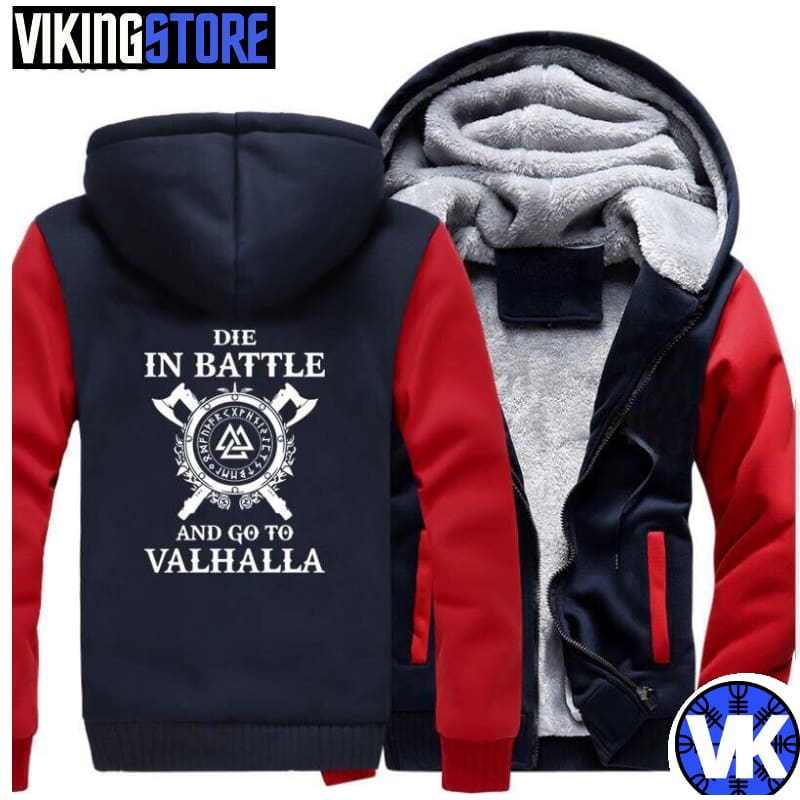 VIKING JACKET - VALHALLA - red dark blue / M - 200000344