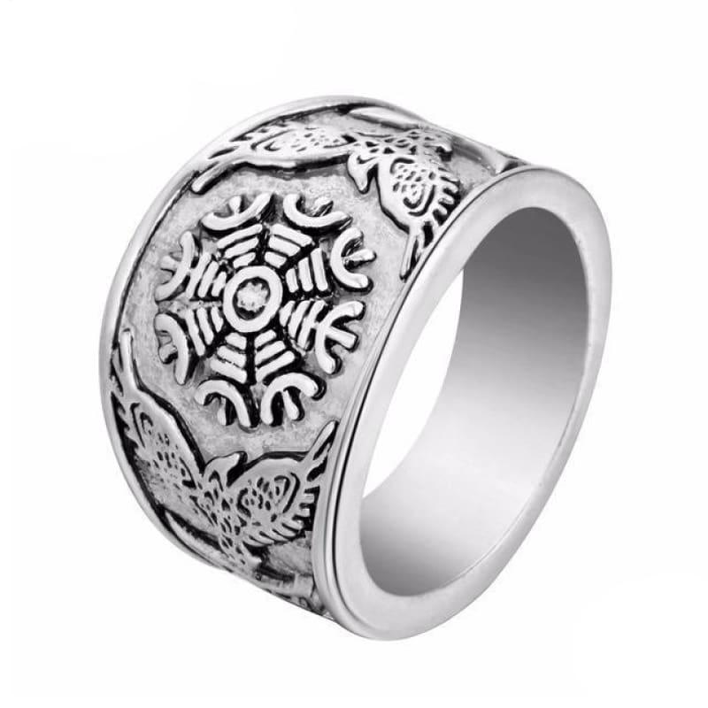 Viking Jewelry norse rings - Aegishjalmur - viking ring
