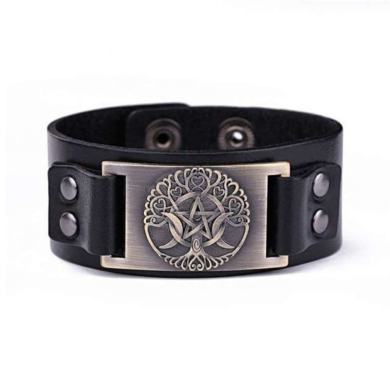 VIKING LEATHER BRACELET YGGDRASIL