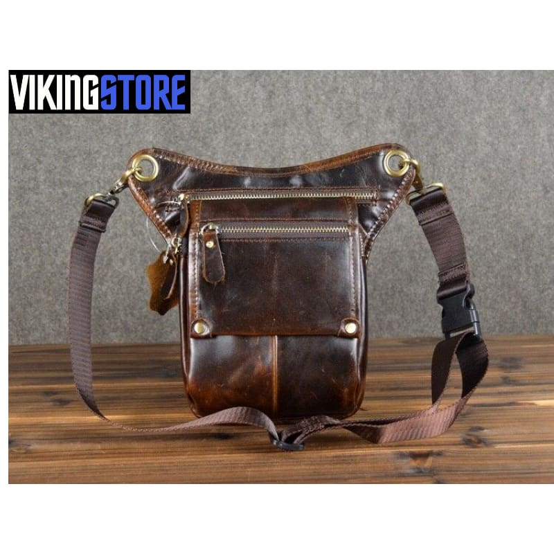 VIKING MEDIEVAL POUCH BAG / WALLET - Brown - 380650