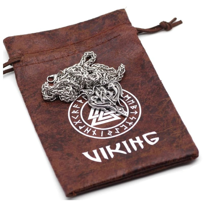 VIKING NECKLACE - HUGINN & MUNINN - viking necklace