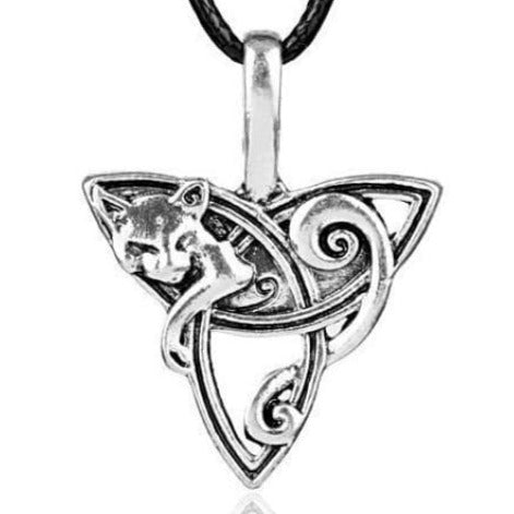 VIKING NECKLACE - TRIQUETRA WOLF - viking necklace