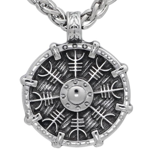 VIKING NECKLACE - VEGVISIR SHIELD - viking necklace