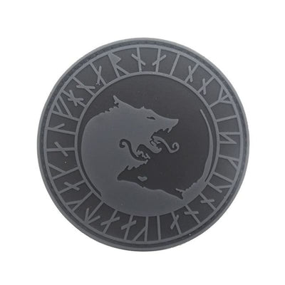 VIKING PATCH -ADMIT ONE VALHALLA - PVC gray 8cm - 100005735